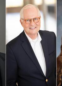 The 2020 Yale-Jefferson Award winners (L to R): Robert Fernandez '20 PhD, Scott Morris '80 MDiv, and Megan Sardis '21