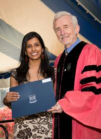 Keerthi Shetty (Immunobiology) receives a Public Service Award.